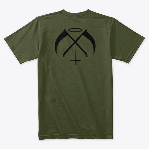 Heathens 2.5 (Colorized) Military Green T-Shirt Back