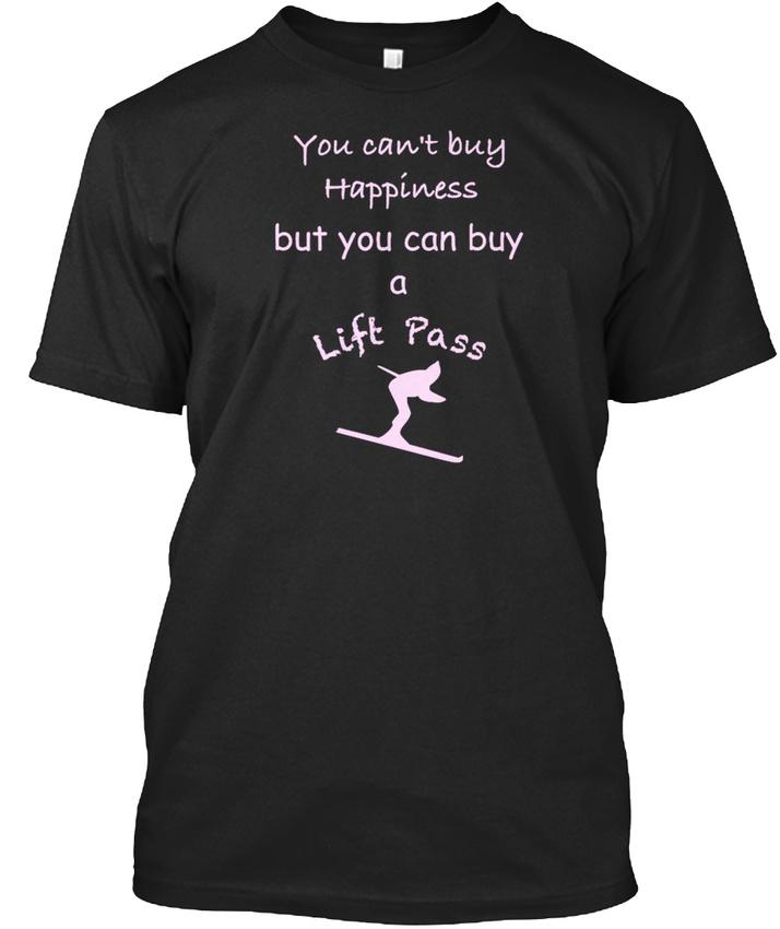 Ski-Fahren-Pink-Stylisches-T-Shirt-S-5XL