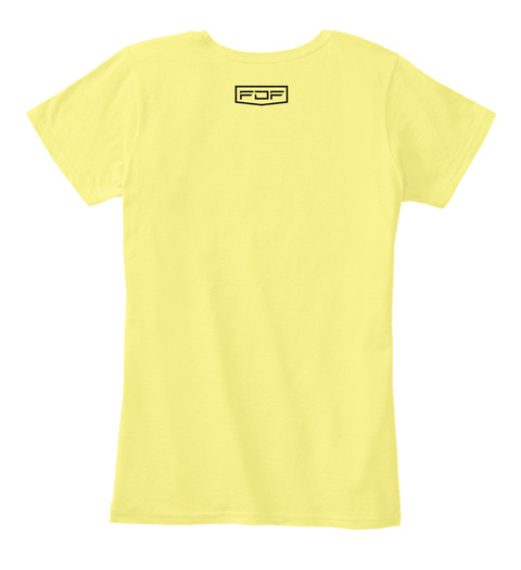 Fdf Lemon Yellow Women's T-Shirt Back