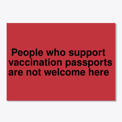 Vaccination Passport Protection Sticker Bright Red T-Shirt Front
