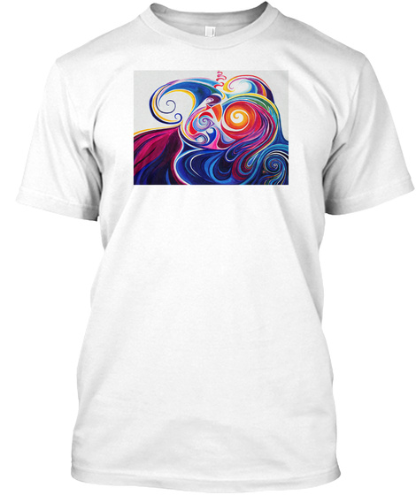 Expressionist Art Studio Gallery Chic 2 White T-Shirt Front
