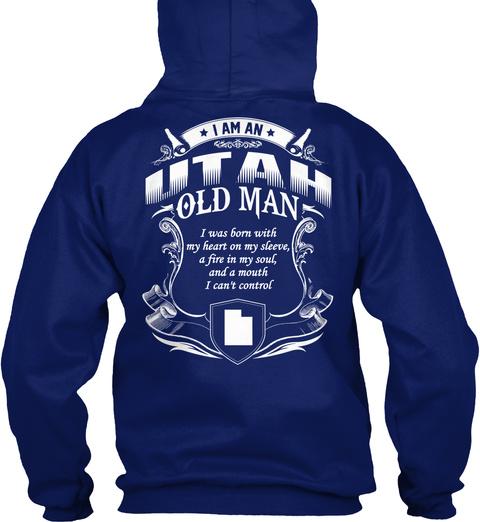 Utah Old Man Oxford Navy T-Shirt Back