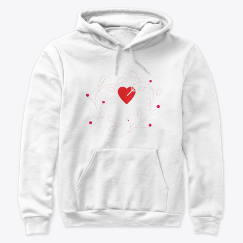 Valentine's Gifts For Friends + Family White Sweatshirt Front