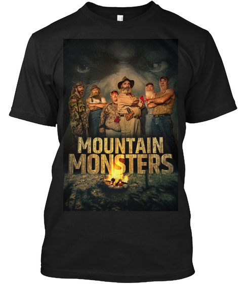 Mountain Monsters Black T-Shirt Front