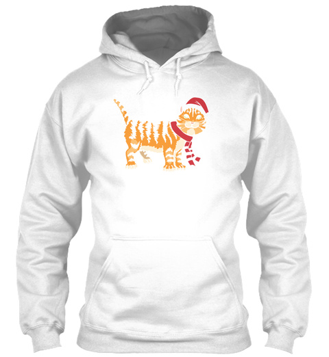 Tiger Christmas White T-Shirt Front