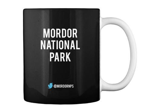 Mordor National Park @Mordor Nps Black T-Shirt Back
