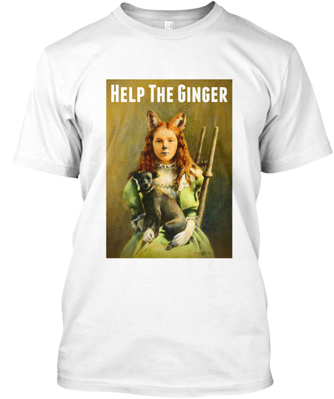 Help The Ginger Help The Ginger White T-Shirt Front