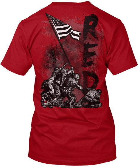 Red Deep Red T-Shirt Back
