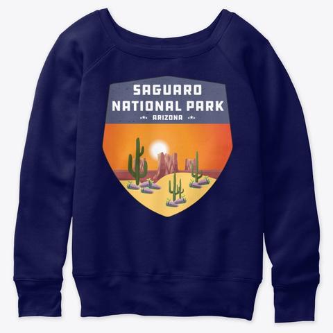 Saguaro National Park Arizona Cactus Navy  T-Shirt Front