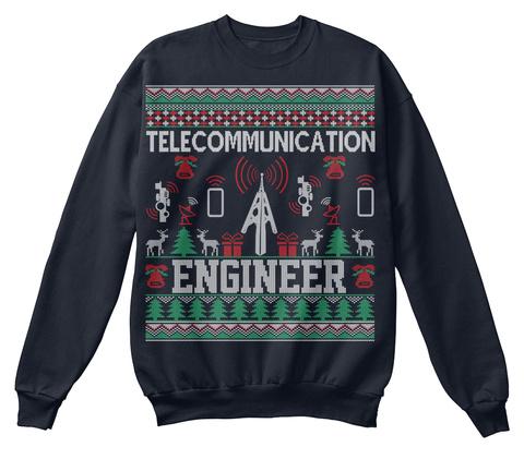 Telecommunication Engineer French Navy Sweatshirt Front