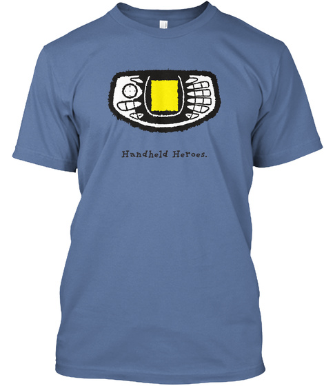 N Gage   Handheld Heroes (Us) Denim Blue T-Shirt Front