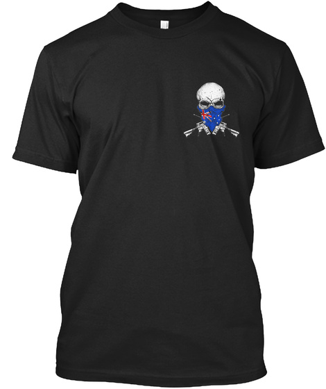 Shooting Terrorists Black T-Shirt Front