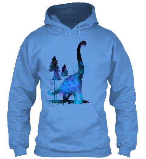 Dinosaur Art Cool Shirt Carolina Blue T-Shirt Front