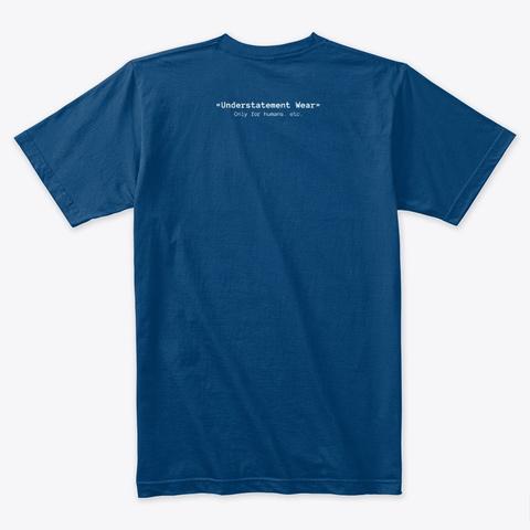 One Eye Crying Cool Blue T-Shirt Back