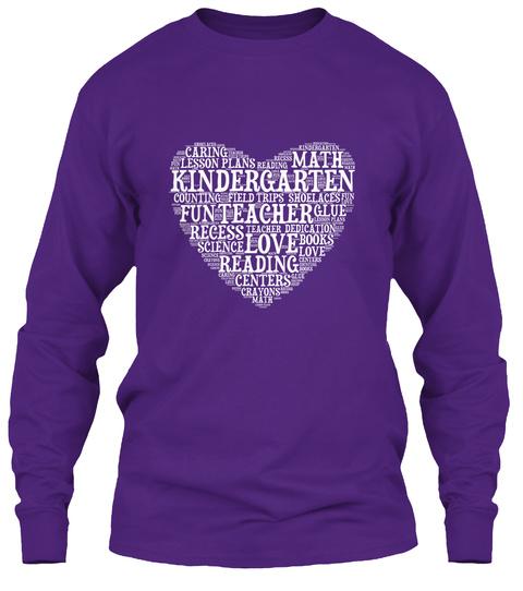Caring Lesson Plans Math Kindergarten Fun Teacher Recess Love Reading Centers Purple T-Shirt Front
