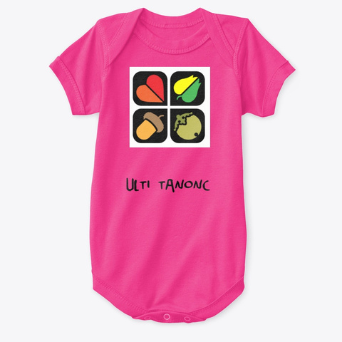 Ulti Tanonc Gyerekcuccok Hot Pink T-Shirt Front