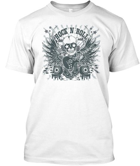 Skull Roll White T-Shirt Front