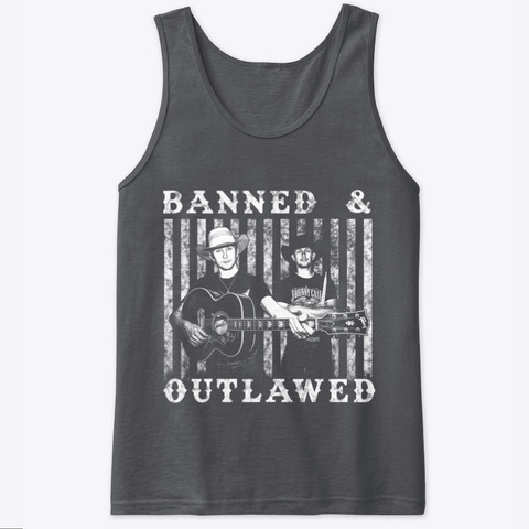 Banned & Outlawed Shirts  Charcoal T-Shirt Front