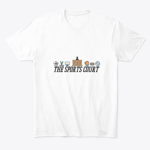 The Sports Court White T-Shirt Front