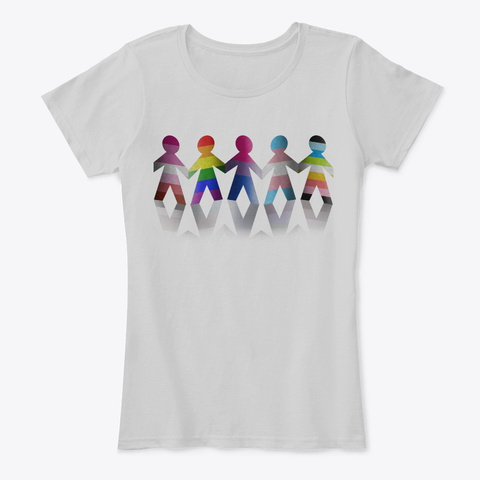 Lgbtq Standing Together  Light Heather Grey T-Shirt Front