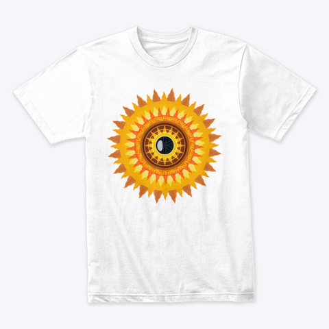 Pinealwave Sun  White T-Shirt Front