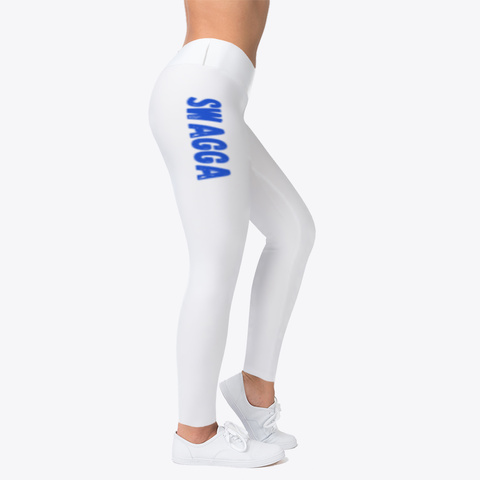 Swagga (Blue Font) Leggings Standard T-Shirt Right