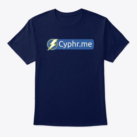 Cypherpunk Navy T-Shirt Front