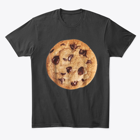 Cookie Last Minute Halloween Black T-Shirt Front