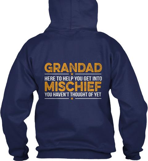 Grandad Mischief Navy T-Shirt Back