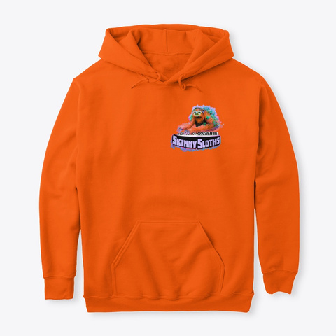 Orange Sloth Garden Hoodies And Ts Safety Orange T-Shirt Front