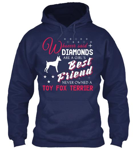 Toy Fox Terrier Gift Shirt. Navy T-Shirt Front
