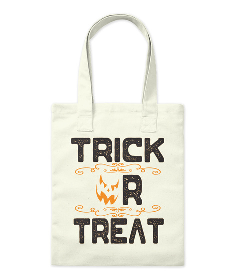 Trick Or Treat Natural Borsa di Tela Front