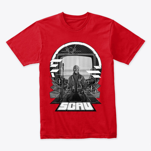Sensei Scav's Meditation Classic Red T-Shirt Front