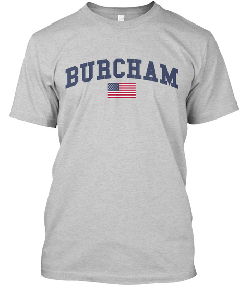 Burcham Family Flag Light Steel T-Shirt Front