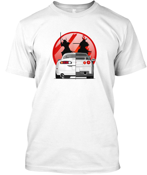 Jdm Warriors White T-Shirt Front