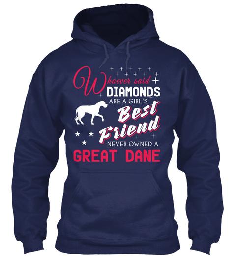 Great Dane Gift Shirt Navy T-Shirt Front