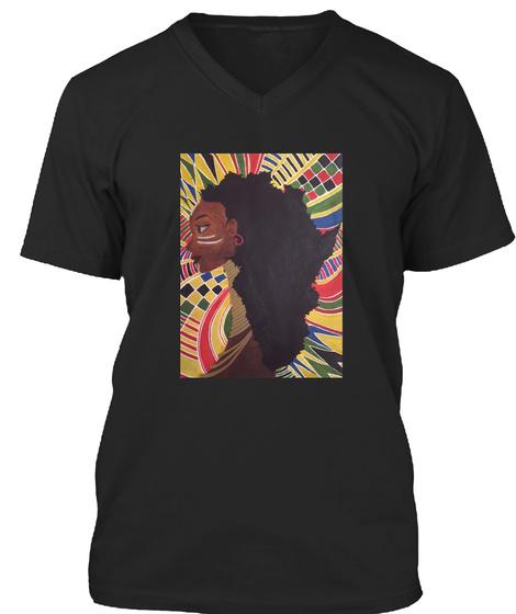 Alkebulan (Africa) Black T-Shirt Front