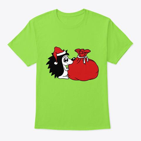 Christmas Gift Sack Christmas Nicholas  Lime T-Shirt Front