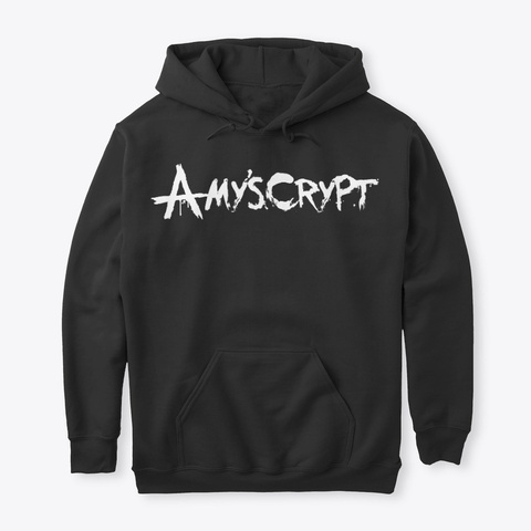 Amy's Crypt Adult's Hoodie Black T-Shirt Front