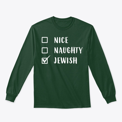 Funny Jewish Holiday Hanukkah Gift Forest Green T-Shirt Front
