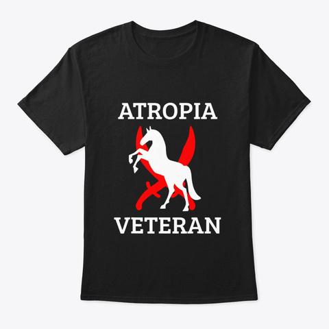 Atropia Veteran T Shirt Black T-Shirt Front