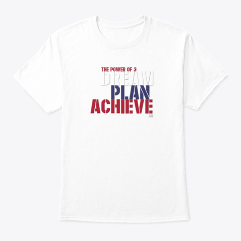 The Power Of 3 America White T-Shirt Front