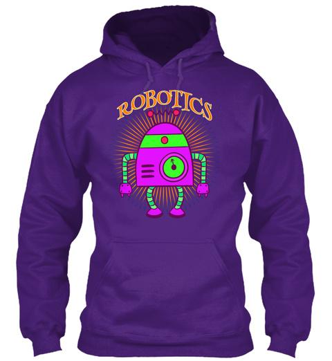 Robotics Purple T-Shirt Front