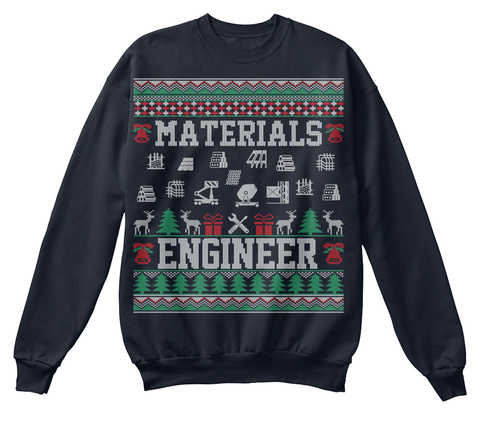Materials Engineer French Navy T-Shirt Front