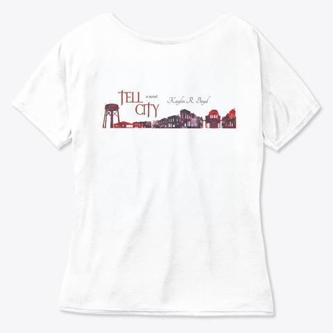 Tell City Heart White  Women's T-Shirt Back