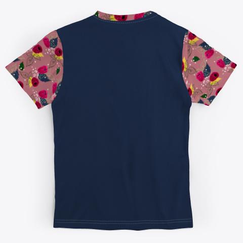 Raspberry Pattern Standard T-Shirt Back