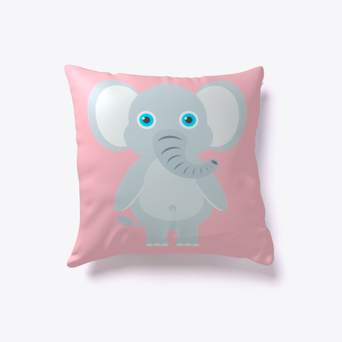 Oliver Elephant Pillow Pink T-Shirt Front