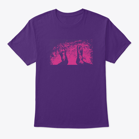 Feet Of Nature Purple T-Shirt Front