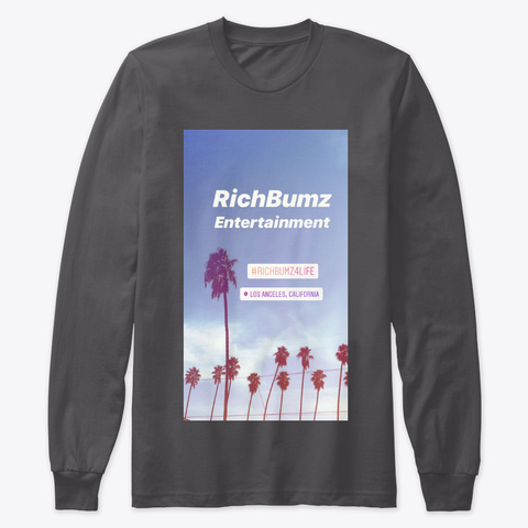 Rich Bumz Ent Crew Long   Sleeve Shirt   Heavy Metal Maglietta Front