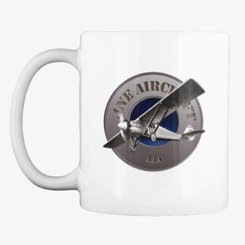 Jne Aircraft Mug White T-Shirt Front
